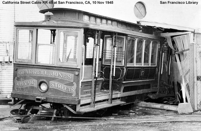 California street cable rr for Depot minden