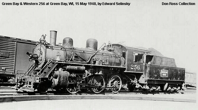 Image result for green bay & western steam locomotive 350