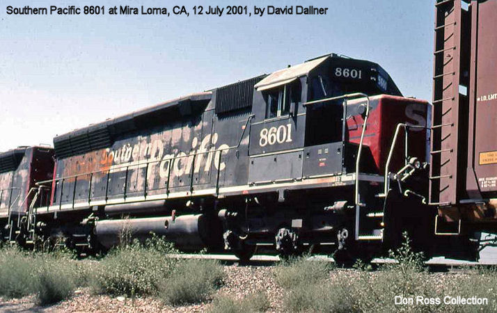 8909, Class SD-45, was built in December 1966, #31849, FN 5703-10, as ACL  1033. It became SCL 2009 in May 1976 and SBD 2009 in January 1983.