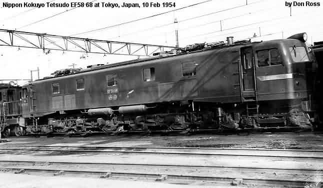 Japanese National Rr Electric Locomotives