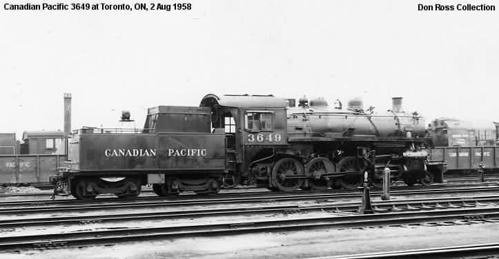 3649, Class N2a, was built by Montreal in March 1911, #48707, as 1849,  Class N3a. It was renumbered 3849 in January 1913 and rebuilt in October  1926 as 3649 ...