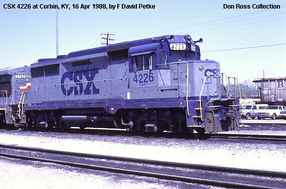 It was reclassified as Class GP-30 in 1964 and rebuilt later as Class  GP-30M. It was renumbered 4226 in 1986 and then became CSX 4226, Class  GP-30M, ...