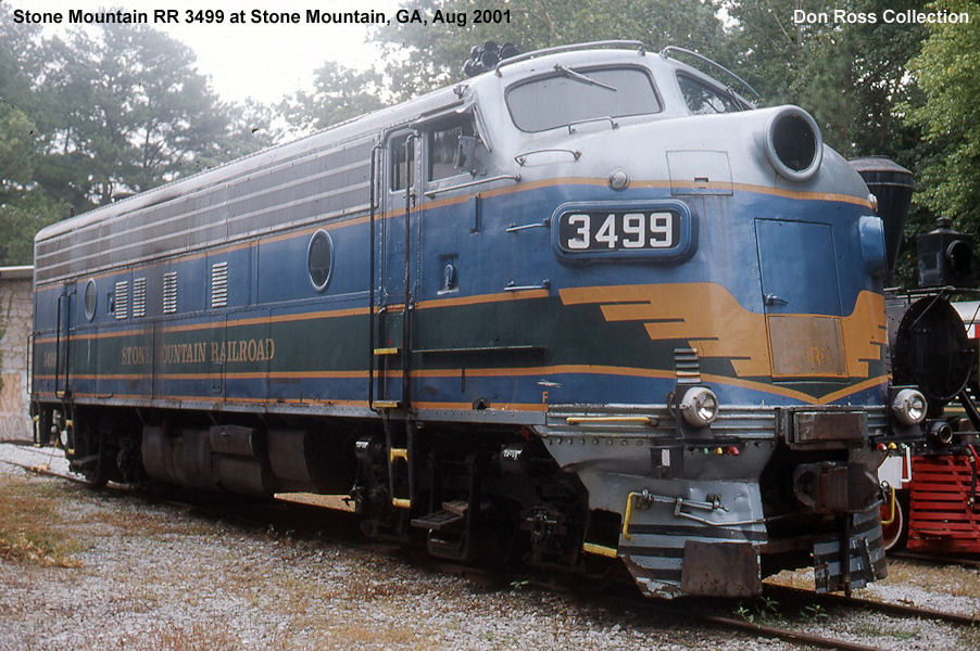 It was renumbered 3499 in 1971 and sold as New Georgia RR 3499 in April  1988. It was sold as Stone Mountain Scenic RR 3499 in 1991.