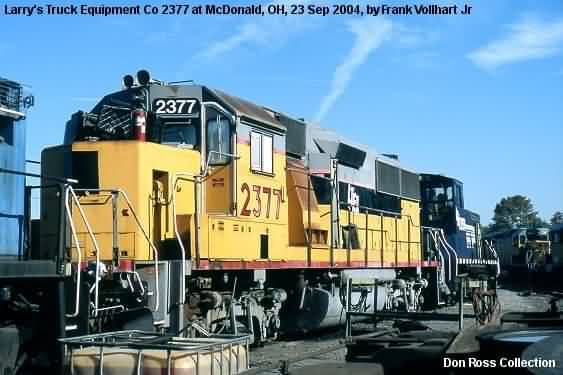 It was sold as LTEX 2377 and resold as Arizona & California 3901 in 2006.  It was sold as Cleveland Commercial RR 2377 in 2012.