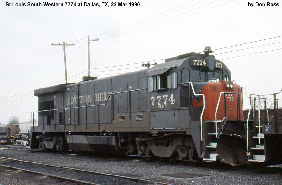 (7775), Class B30-7, was built in March 1980, #42789, as SSW 7775, Class  GF430C-1. It was assigned UP 7775, Class B30-7, but retired on July 15,  2002.