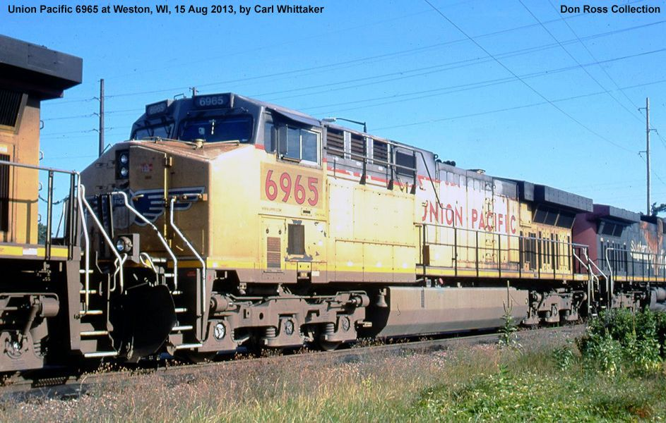 Union Pacific GE AC6000CW Converted Diesels