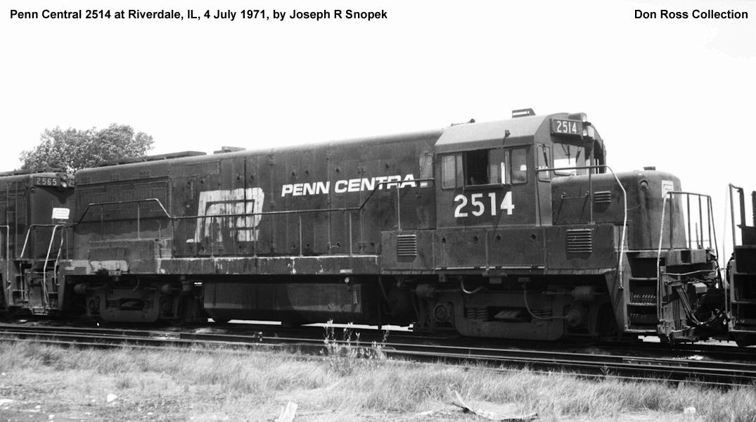 2518, Class U-25-B, was built in April 1964, #35004, as NYC 2518, Class  DRS-15a. It was reclassified Class GF-25 in 1966 and became PC 2518, Class  GF-25, ...